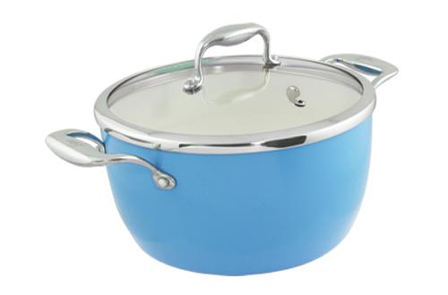 Blanc B24PSS-B 24cm Covered Pot(Blue)
