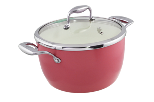 Blanc B24PSS-R 24cm Covered Pot(Red)