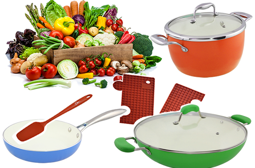 Blanc Cookware Bundle Set for T883 Hobs
